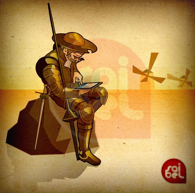 Quijote con iPad